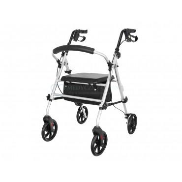 Chodzik rehabilitacyjny aluminiowy czterokołowy ROCKY