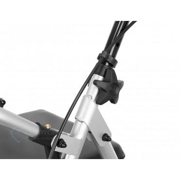 Podpórka rehabilitacyjna aluminiowa czterokołowa ROCKY łatwy montaż śrubunkiem