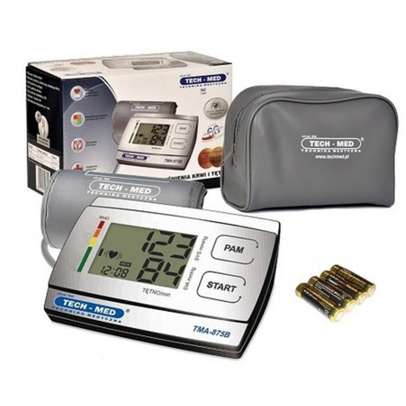 Ciśnieniomierz elektroniczny TECH-MED TMA-875B cały zestaw