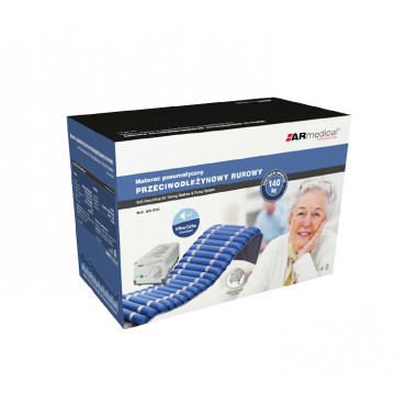 Materac przeciwodleżynowy rurowy marki ARmedical pudełko