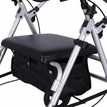 Podpórka rehabilitacyjna aluminiowa czterokołowa ROCKY siedzenie